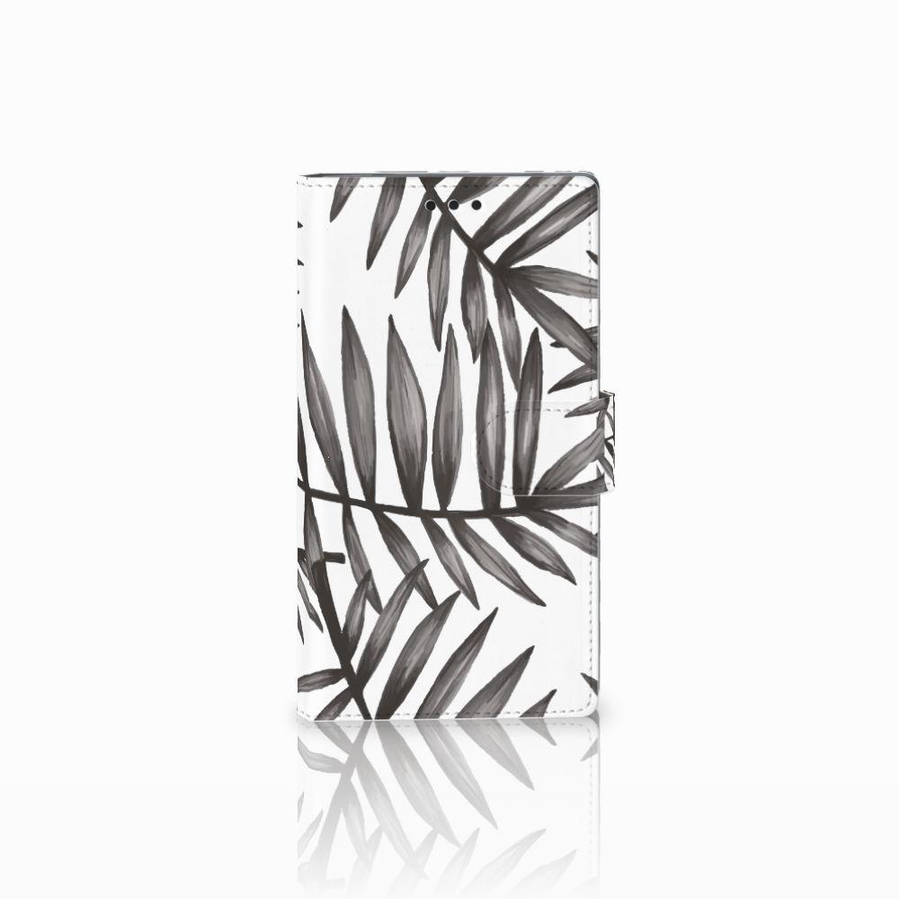 Sony Xperia L2 Uniek Boekhoesje Leaves Grey