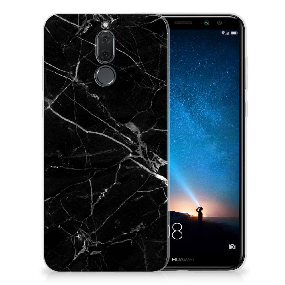 Huawei Mate 10 Lite TPU Siliconen Hoesje Marmer Zwart