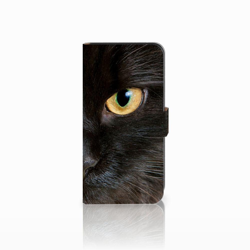Samsung Galaxy E7 Uniek Boekhoesje Zwarte Kat