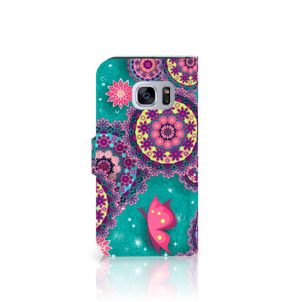Samsung Galaxy S7 Hoesje Cirkels en Vlinders