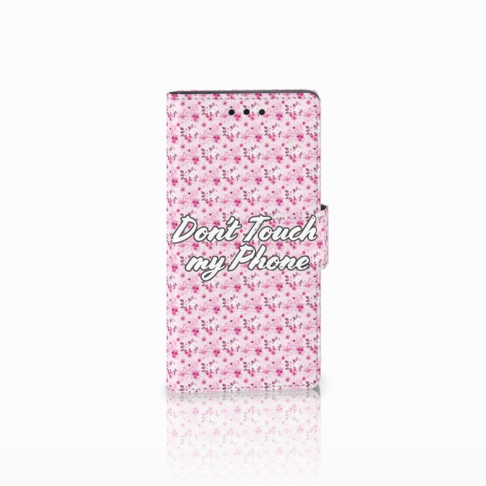 Sony Xperia Z5 Compact Uniek Boekhoesje Flowers Pink DTMP
