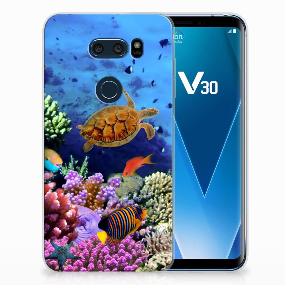 LG V30 TPU Hoesje Design Vissen