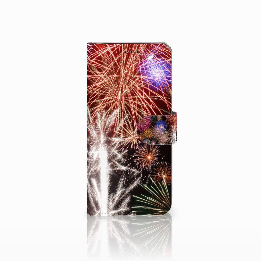 Samsung Galaxy J6 2018 Boekhoesje Design Vuurwerk