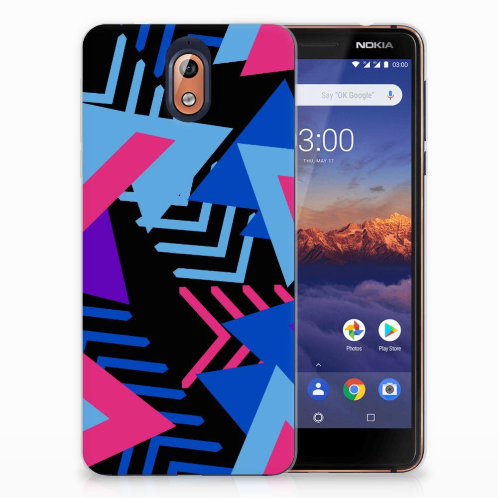 Nokia 3.1 (2018) TPU Hoesje Funky Triangle