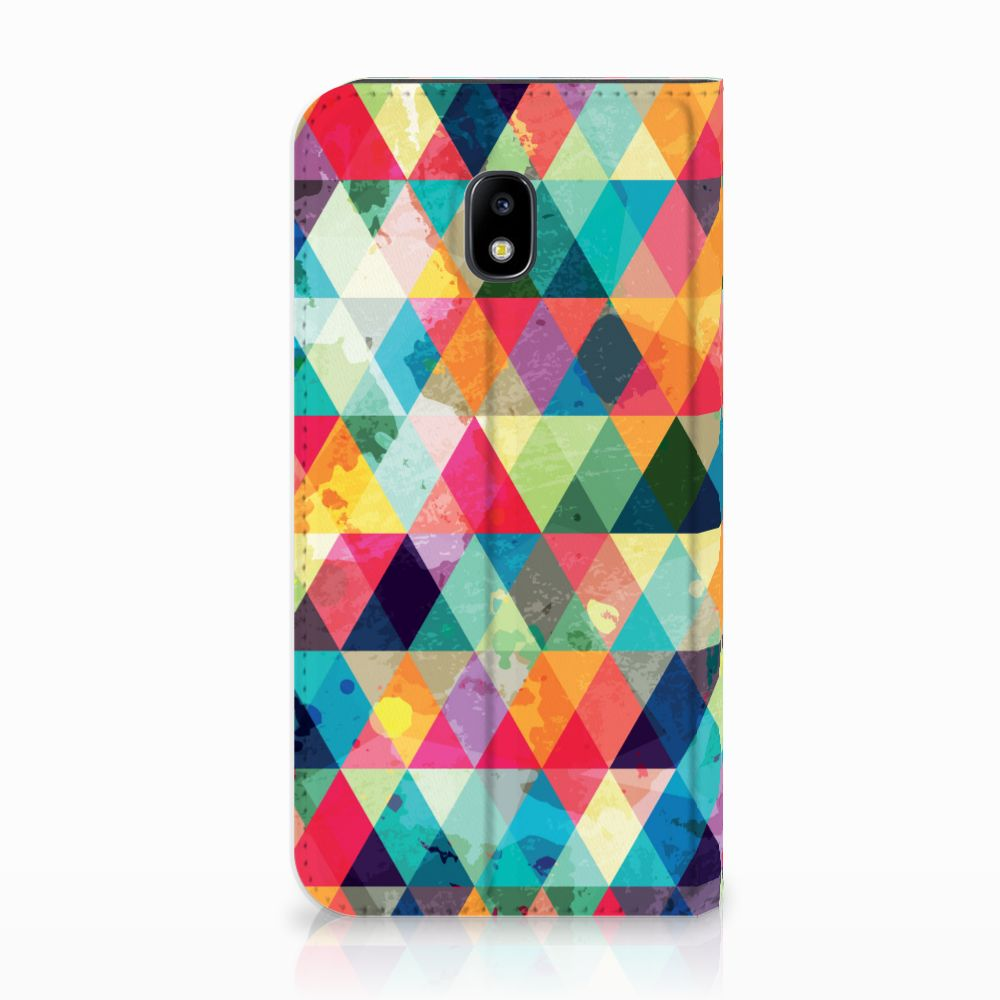 Samsung Galaxy J3 2017 Uniek Standcase Hoesje Geruit