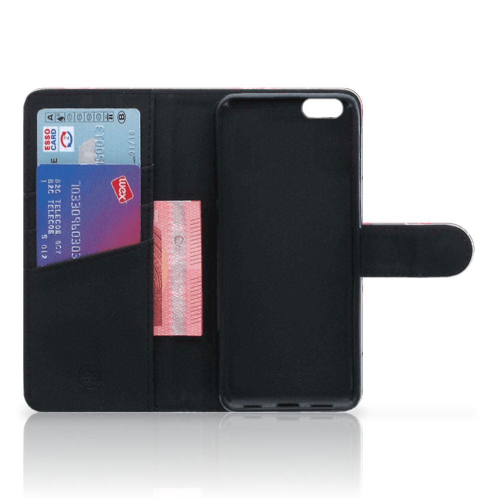 Apple iPhone 6 Plus | 6s Plus Telefoonhoesje met Pasjes Flamingo