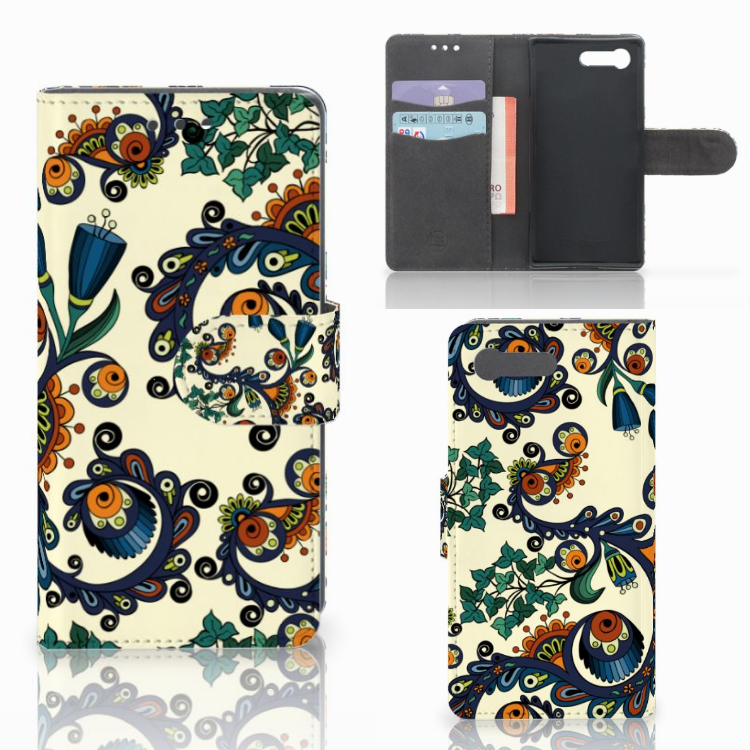 Wallet Case Sony Xperia X Compact Barok Flower