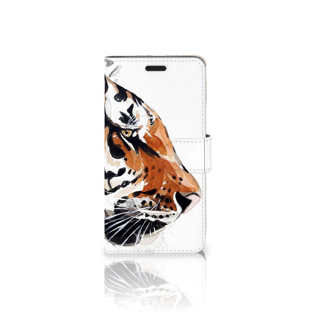 HTC 10 Uniek Boekhoesje Watercolor Tiger