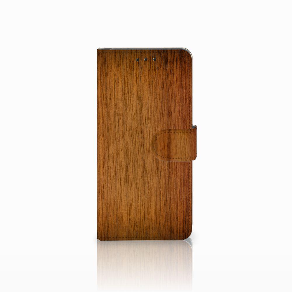 Huawei Mate 20 Pro Uniek Boekhoesje Donker Hout