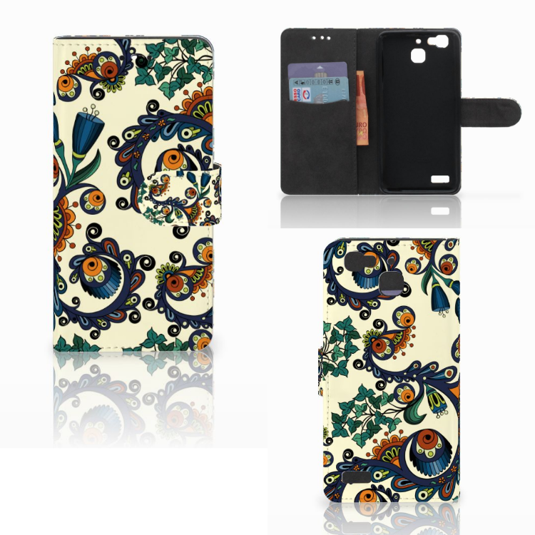 Wallet Case Huawei P8 Lite Smart (GR3) Barok Flower