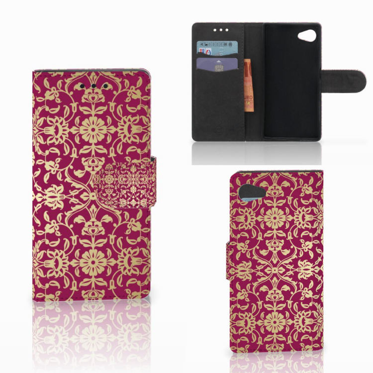 Wallet Case Sony Xperia Z5 Compact Barok Pink