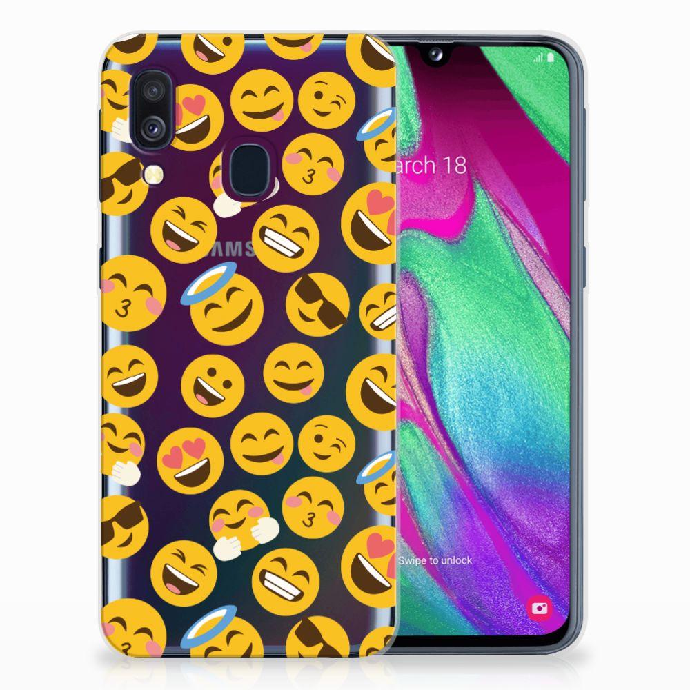 Samsung Galaxy A40 TPU Hoesje Design Emoji