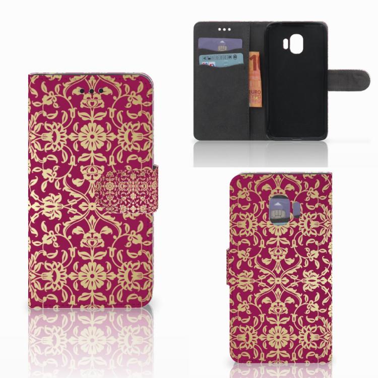 Wallet Case Samsung Galaxy J2 Pro 2018 Barok Pink