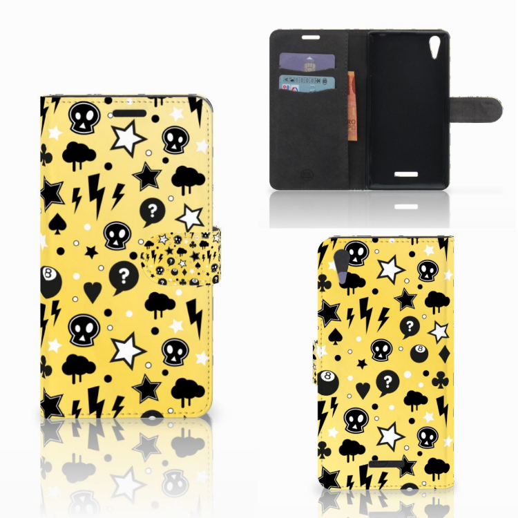 Telefoonhoesje met Naam Sony Xperia T3 Punk Geel