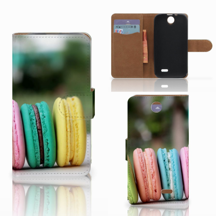 HTC Desire 310 Book Cover Macarons