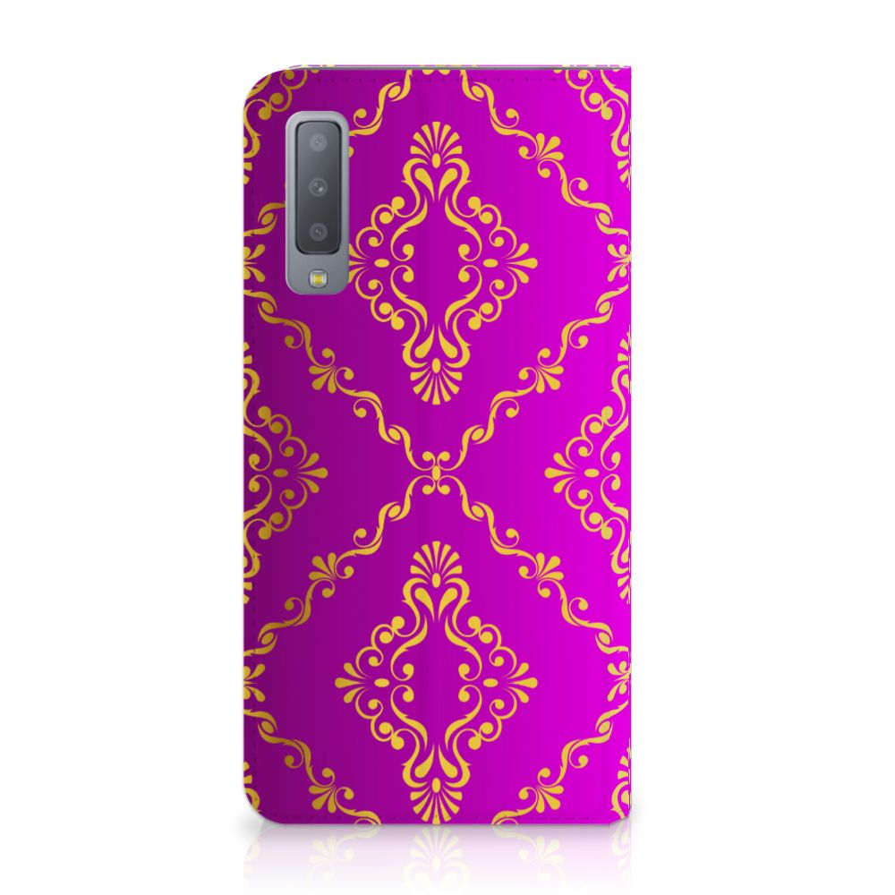 Samsung Galaxy A7 (2018) Uniek Standcase Hoesje Barok Roze