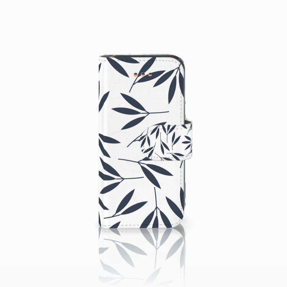 Apple iPhone 5C Boekhoesje Design Leaves Blue