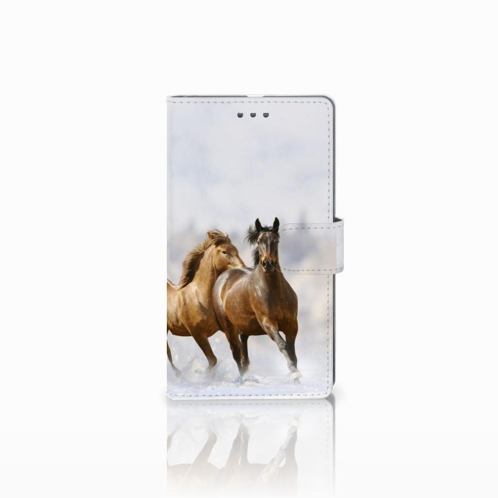 Microsoft Lumia 950 XL Uniek Boekhoesje Paarden