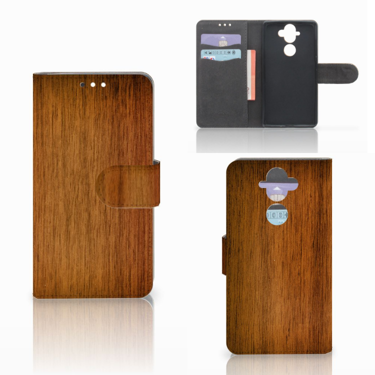 Nokia 8 Sirocco | Nokia 9 Book Style Case Donker Hout