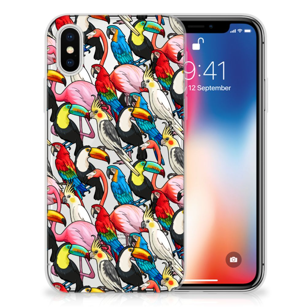 Apple iPhone X | Xs Uniek TPU Hoesje Birds