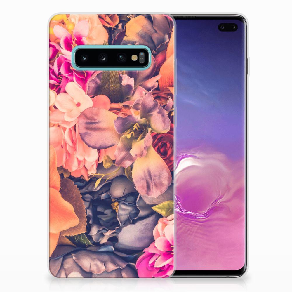 Samsung Galaxy S10 Plus TPU Hoesje Design Bosje Bloemen