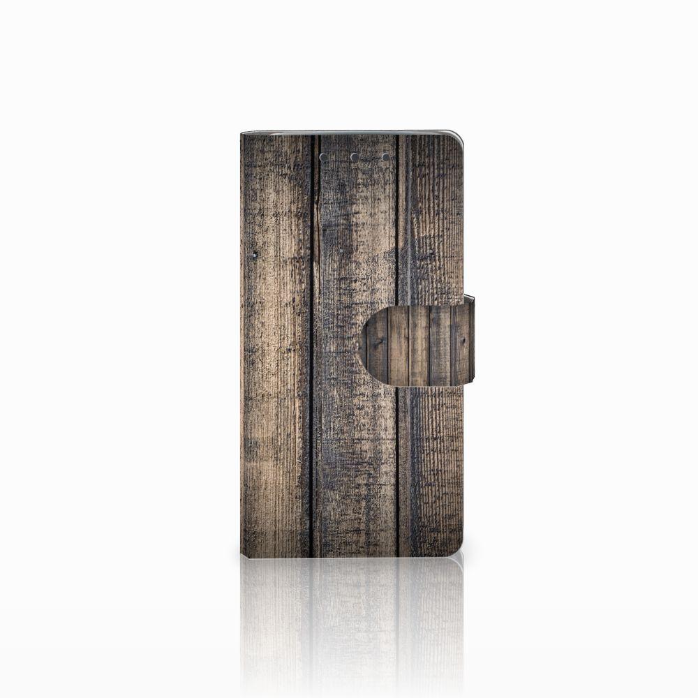 HTC One M7 Boekhoesje Design Steigerhout