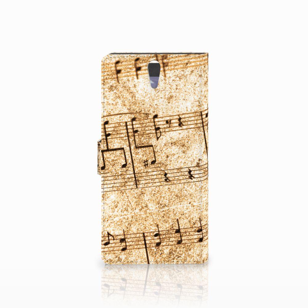 Sony Xperia C5 Ultra Telefoonhoesje met foto Bladmuziek