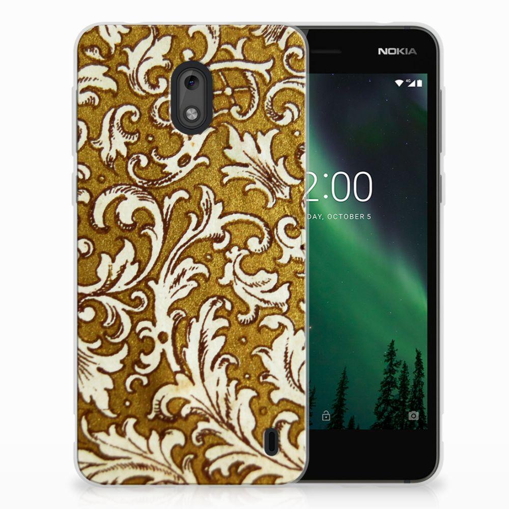 Siliconen Hoesje Nokia 2 Barok Goud