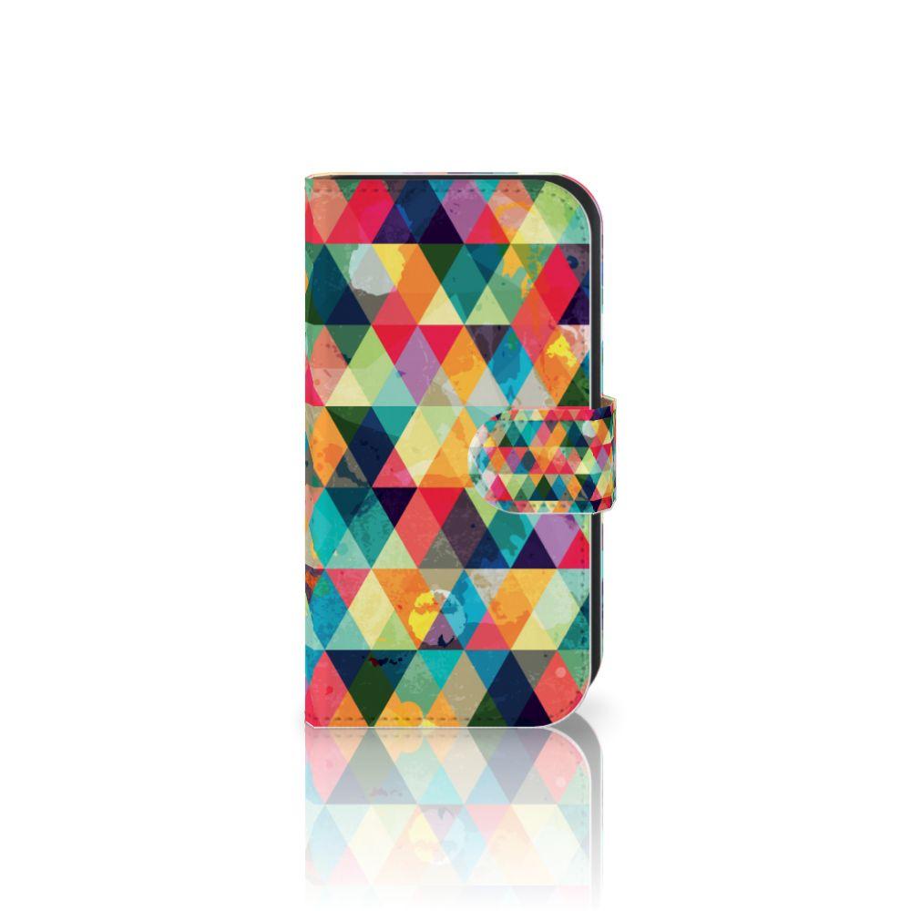 Samsung Galaxy Ace 4 4G (G357-FZ) Uniek Boekhoesje Geruit
