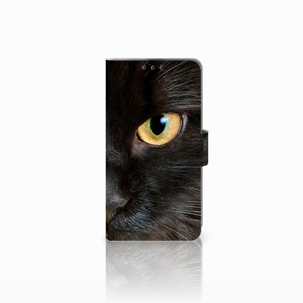 Microsoft Lumia 535 Uniek Boekhoesje Zwarte Kat