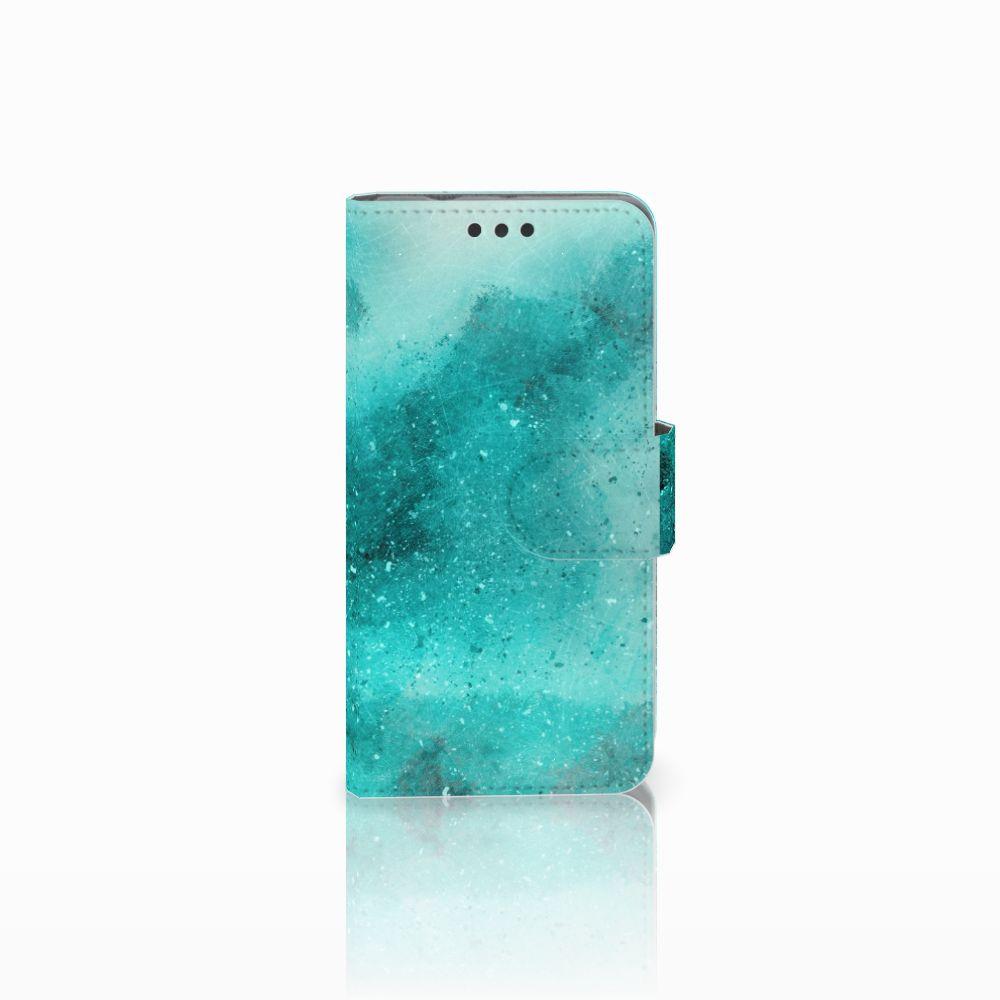 Sony Xperia Z3 Compact Uniek Boekhoesje Painting Blue