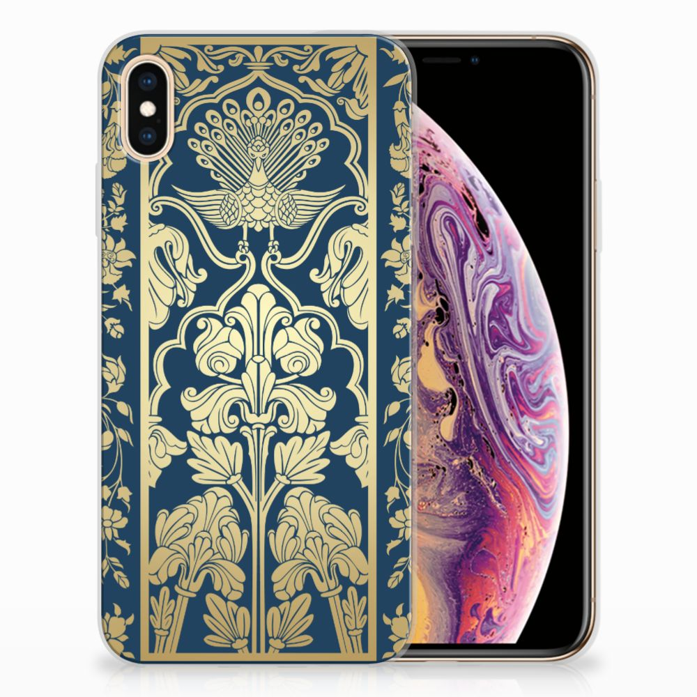 Apple iPhone Xs Max Uniek TPU Hoesje Golden Flowers