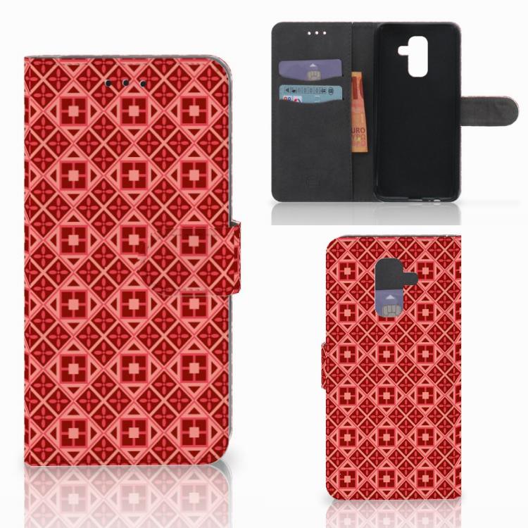 Samsung Galaxy A6 Plus 2018 Telefoon Hoesje Batik Rood