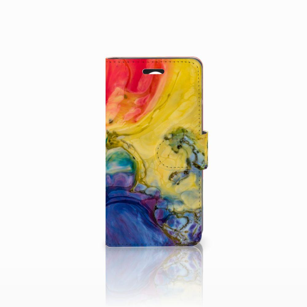 Huawei Y3 2 | Y3 II Uniek Boekhoesje Watercolor Dark