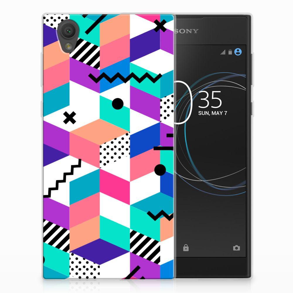 Sony Xperia L1 TPU Hoesje Blokken Kleurrijk