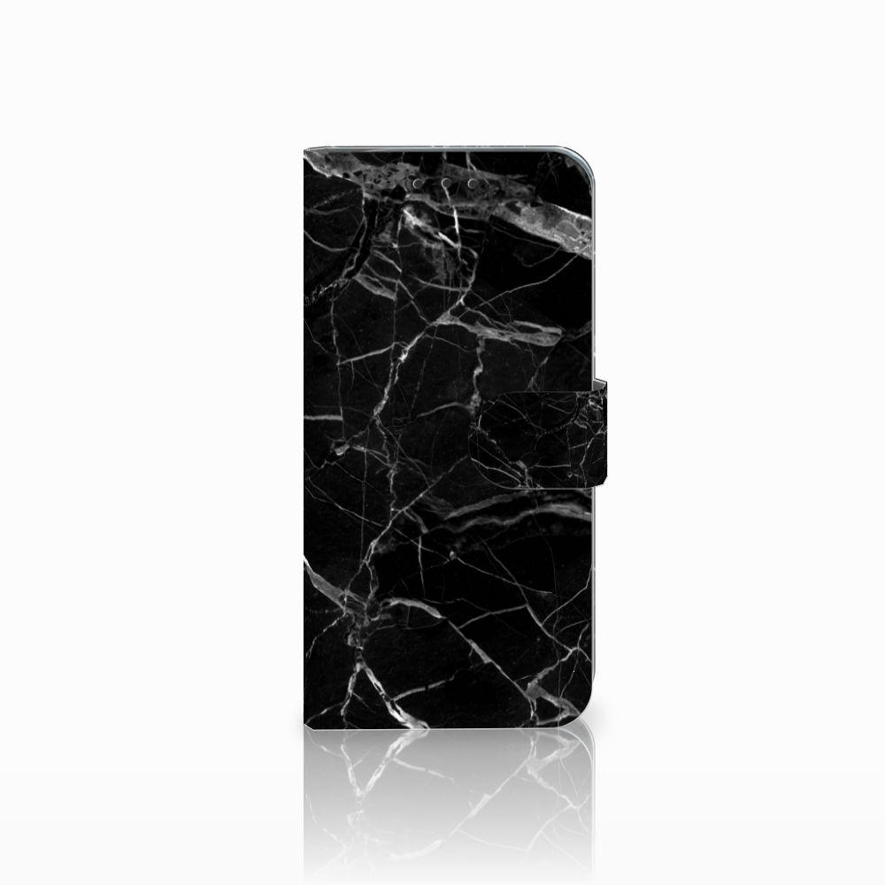 Motorola Moto G6 Play Uniek Boekhoesje Marmer Zwart