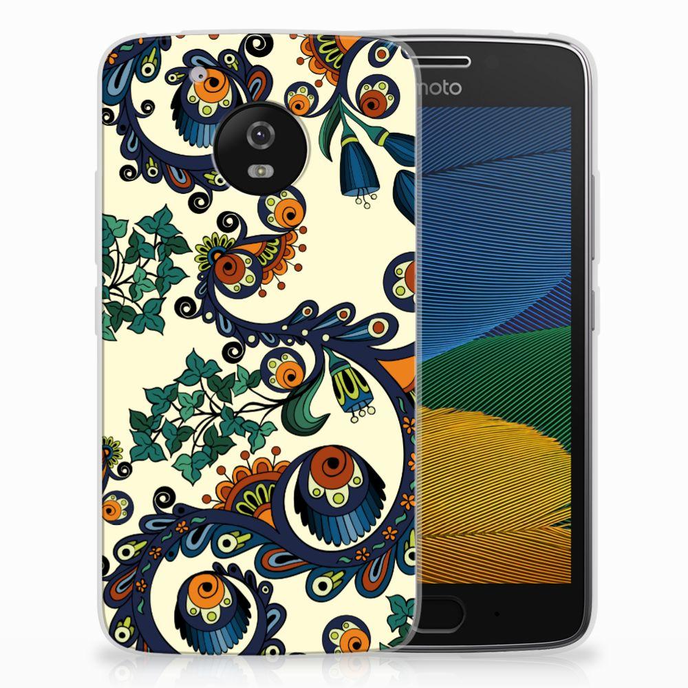 Siliconen Hoesje Motorola Moto G5 Barok Flower