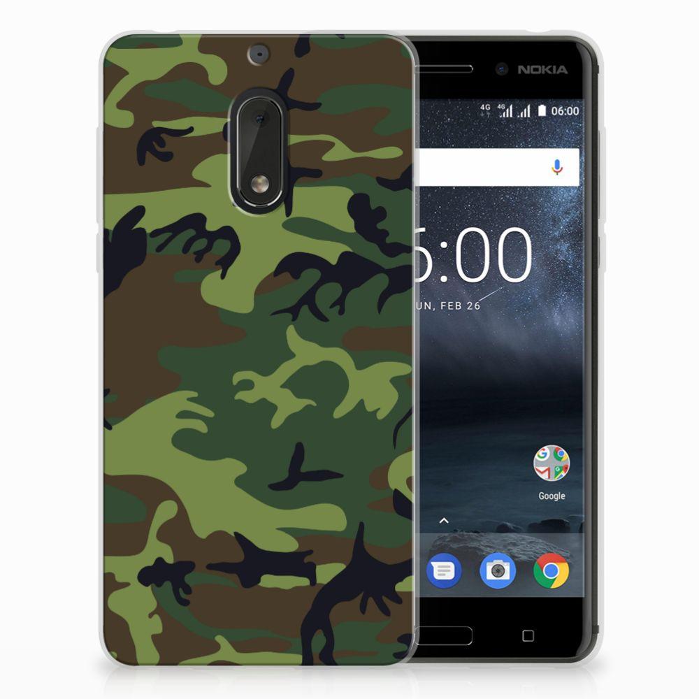 Nokia 6 TPU Hoesje Design Army Dark