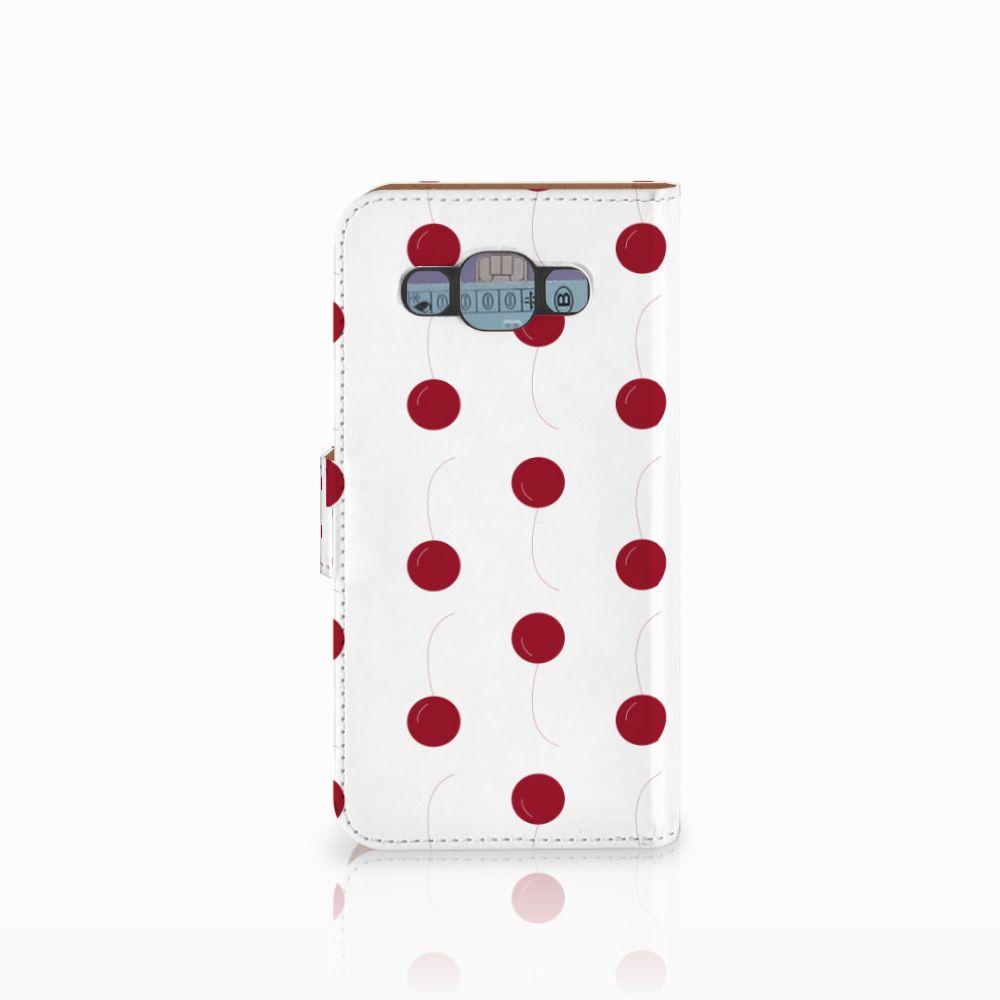 Samsung Galaxy E5 Book Cover Cherries