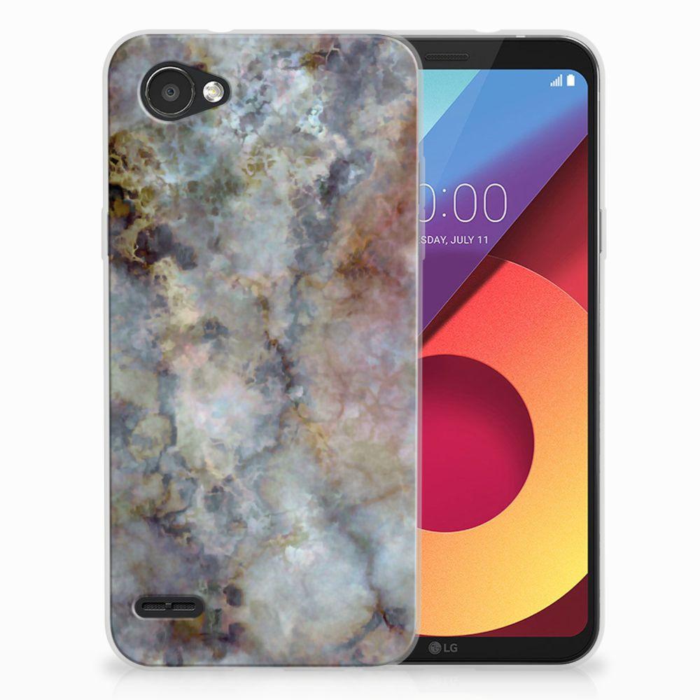 LG Q6 | LG Q6 Plus TPU Hoesje Design Marmer Grijs