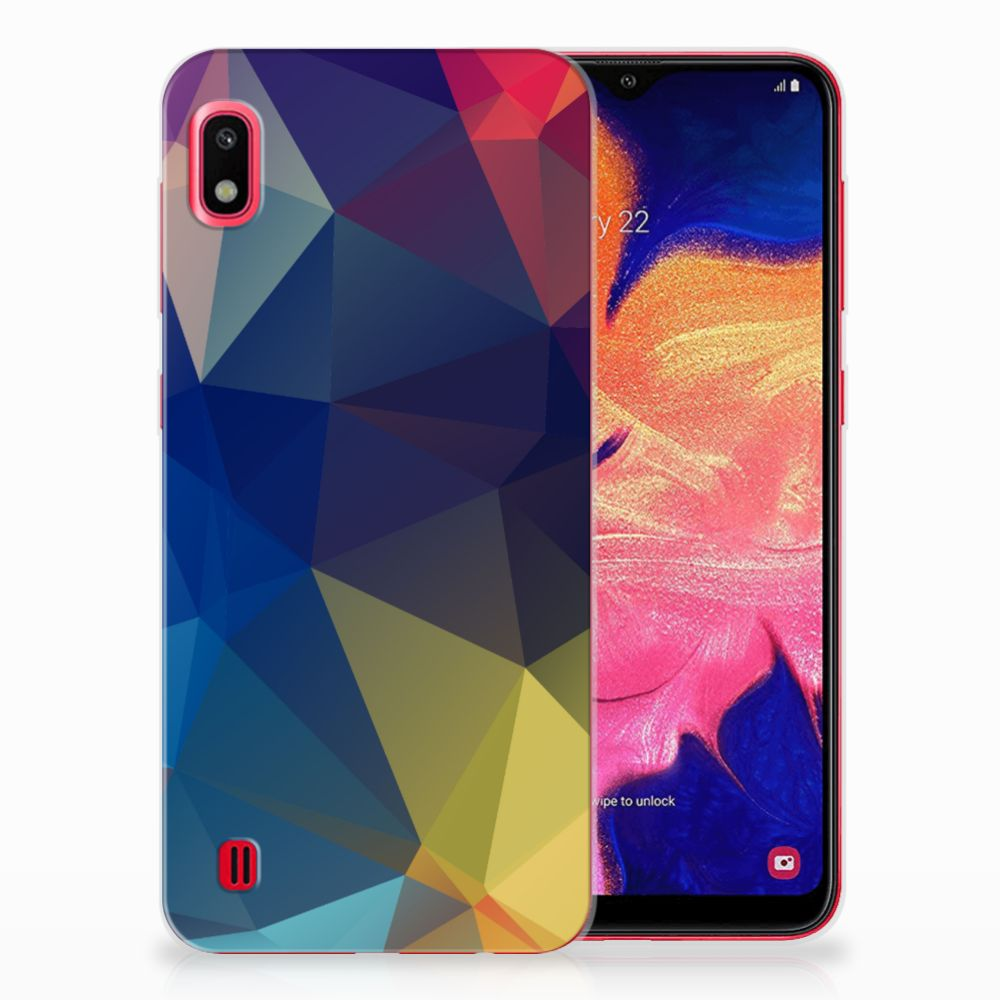 Samsung Galaxy A10 TPU Hoesje Polygon Dark