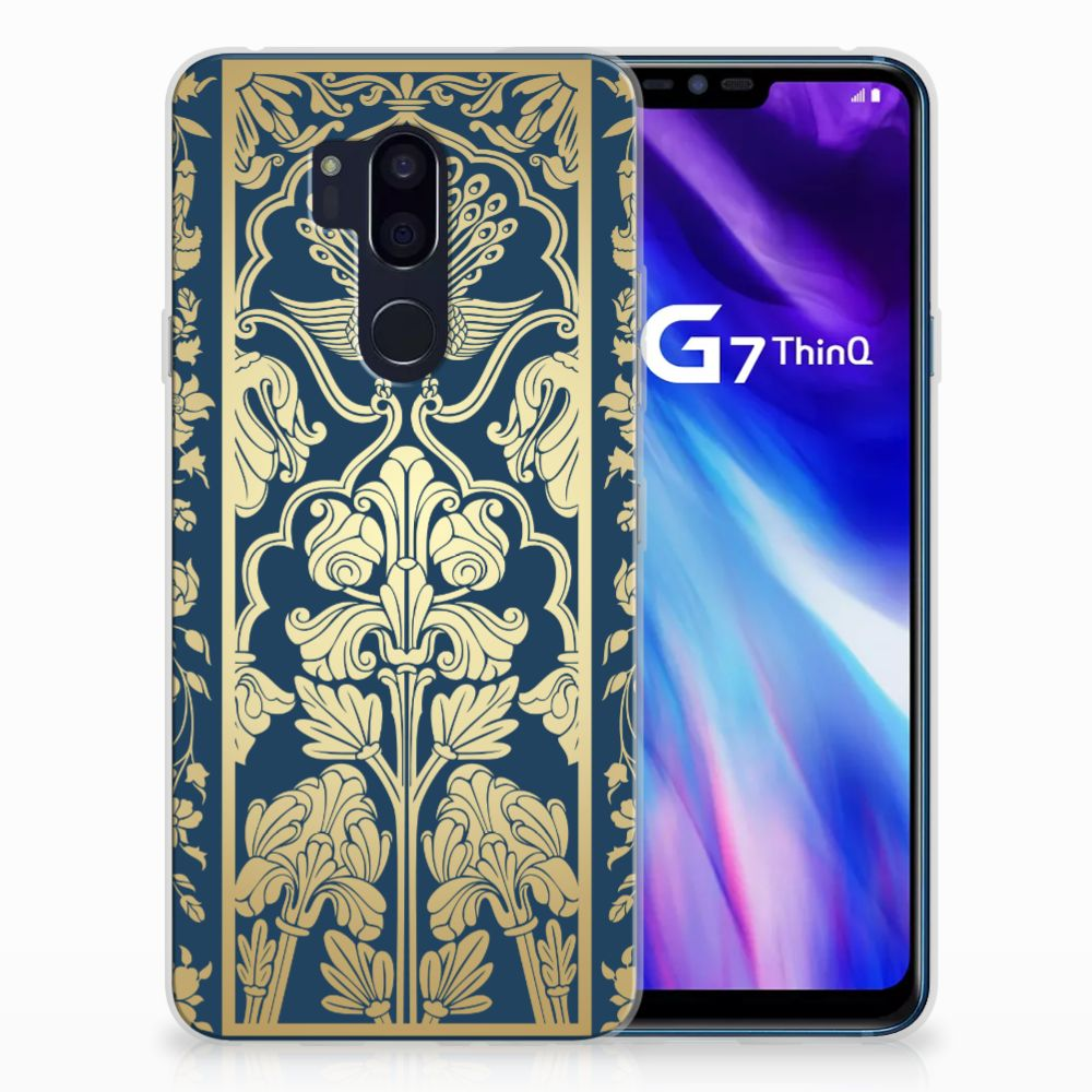 LG G7 Thinq TPU Case Golden Flowers