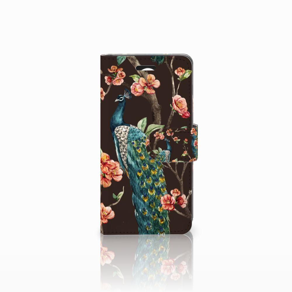 Huawei Y3 2 | Y3 II Boekhoesje Design Pauw met Bloemen