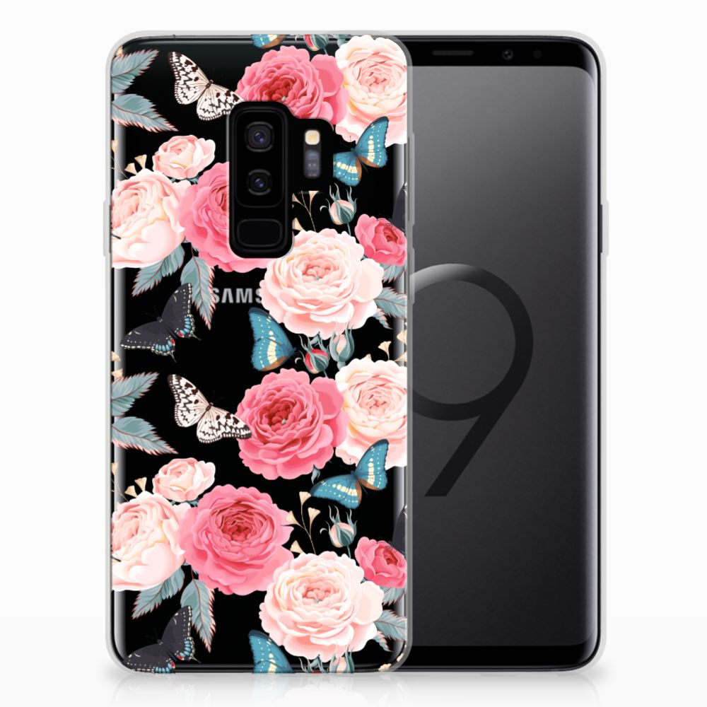Samsung Galaxy S9 Plus TPU Case Butterfly Roses
