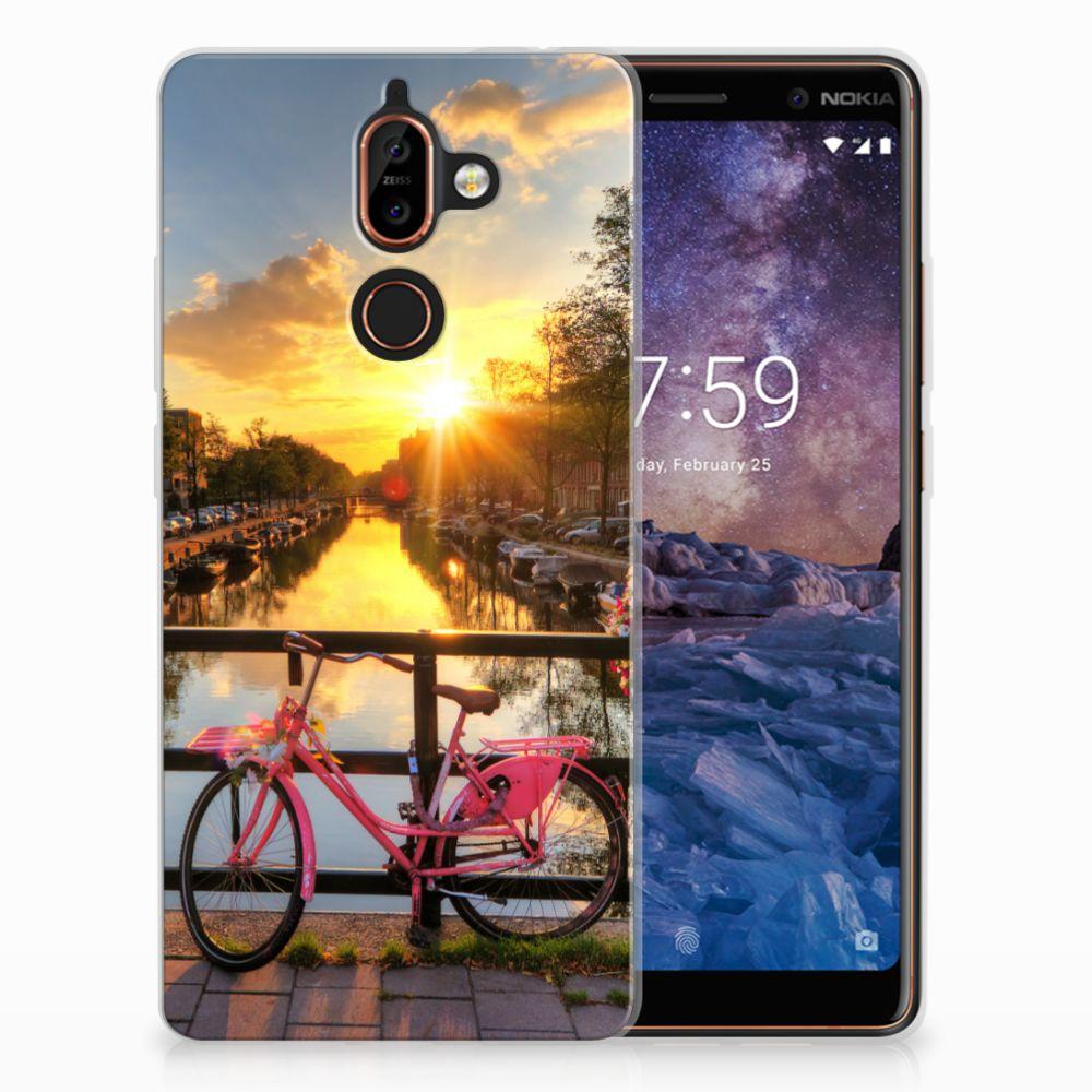 Nokia 7 Plus Uniek TPU Hoesje Amsterdamse Grachten