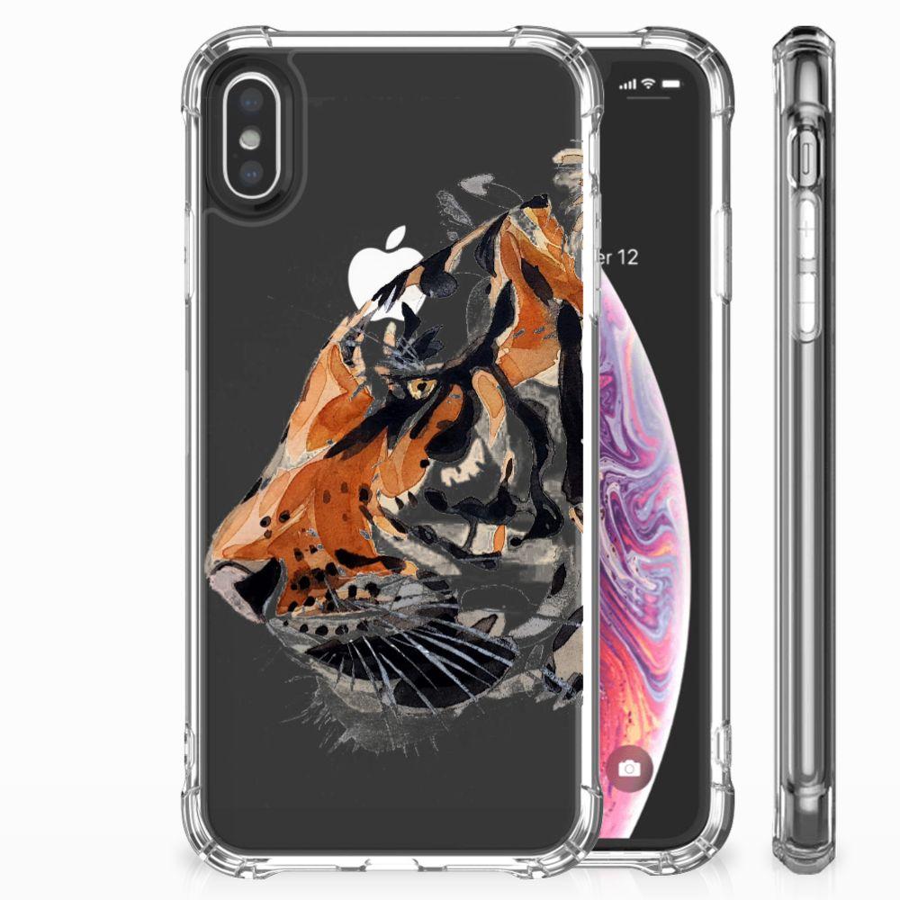 Apple iPhone X | Xs Uniek TPU Hoesje Watercolor Tiger