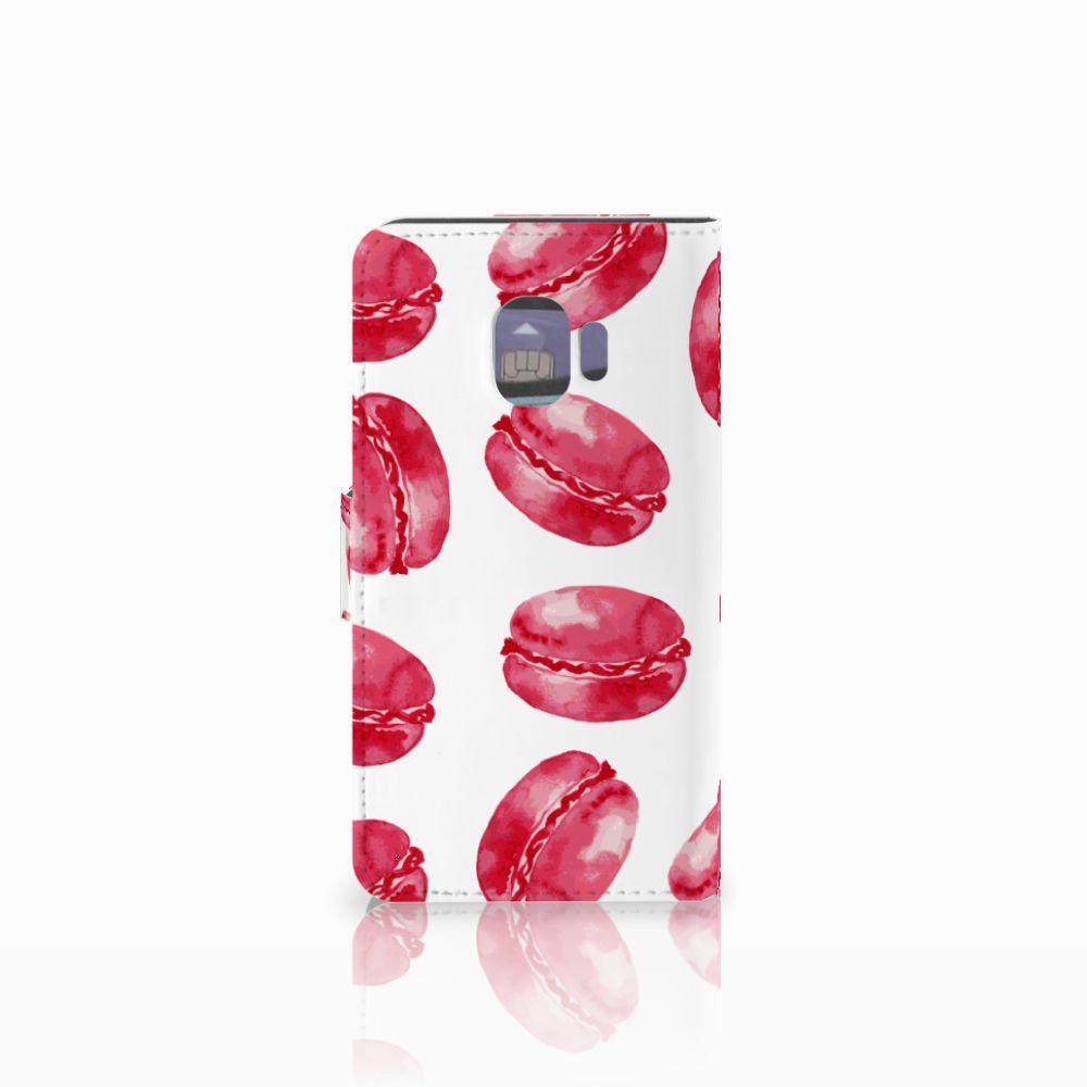 Samsung Galaxy J2 Pro 2018 Book Cover Pink Macarons
