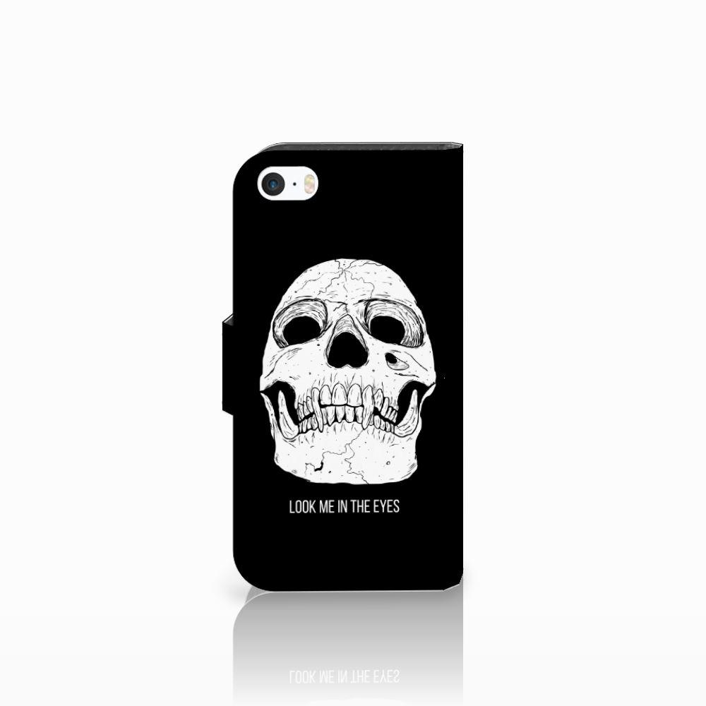 Telefoonhoesje met Naam Apple iPhone 5 | 5s | SE Skull Eyes