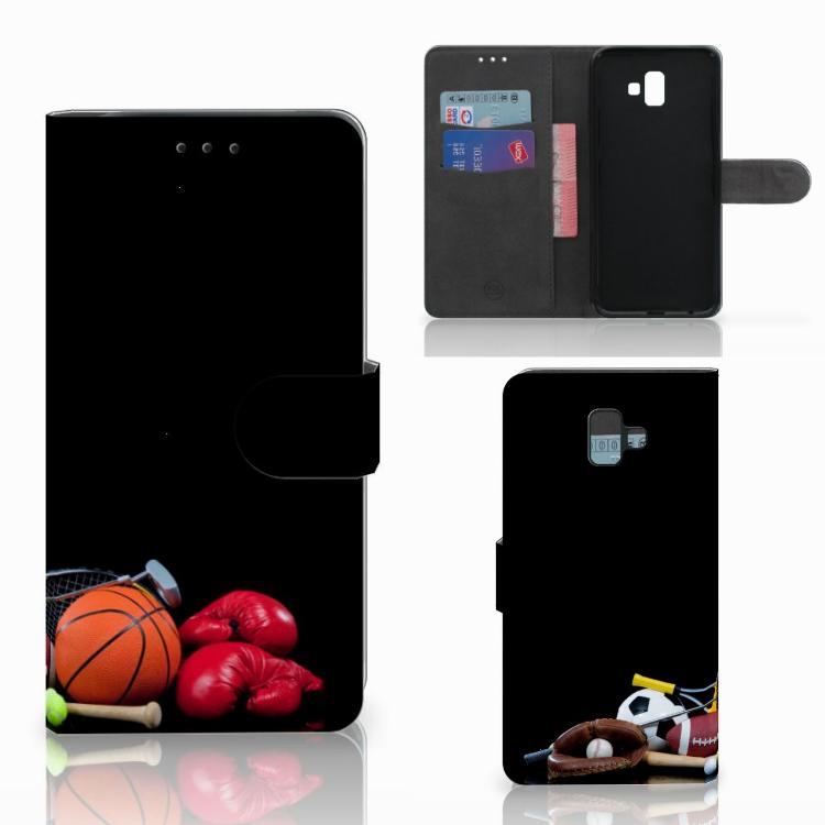 Samsung Galaxy J6 Plus (2018) Wallet Case met Pasjes Sports