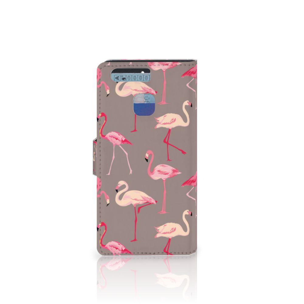 Huawei P9 Telefoonhoesje met Pasjes Flamingo